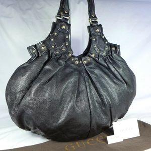 GUCCI Pelham Rare Large Hobo Leather Shoulder Bag